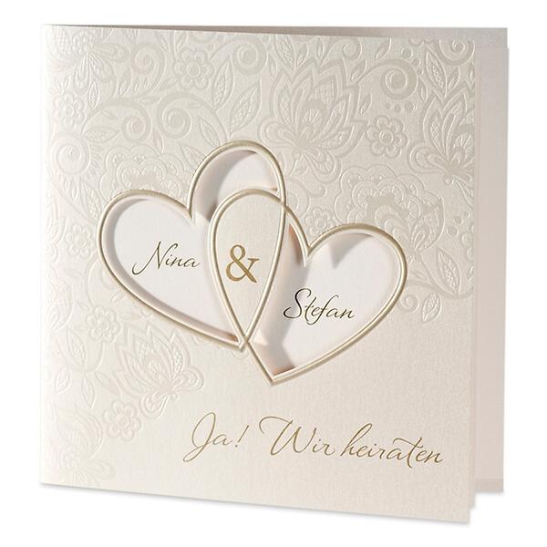 Hochzeitseinladung Sonja Mit Ausgestanzten Herzen Weddix De