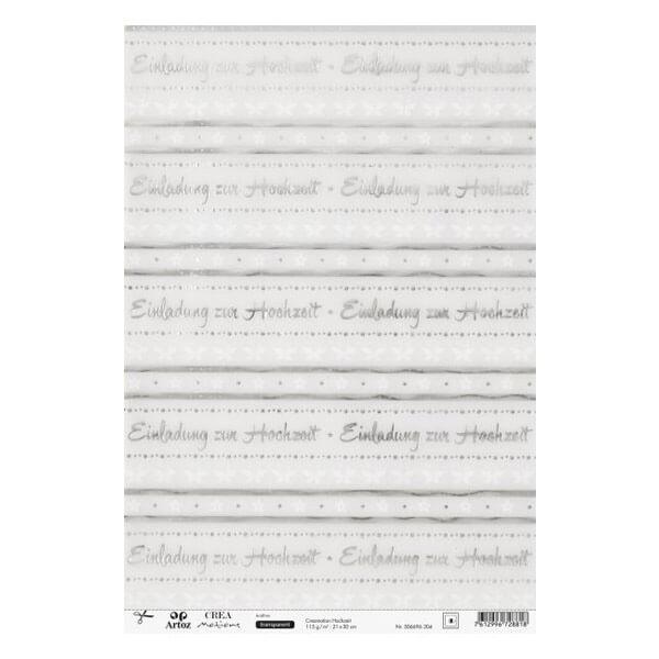 Schön Transparentpapier Einladung