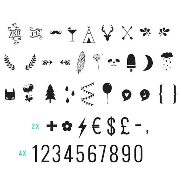 nummern und symbole f u00fcr die lightbox