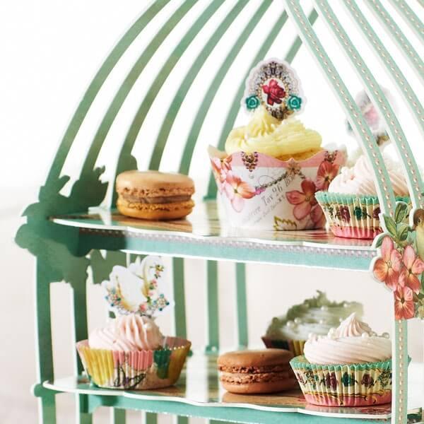 cupcake deko set v gel zur hochzeit. Black Bedroom Furniture Sets. Home Design Ideas