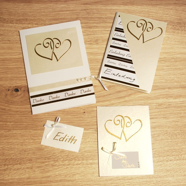 ... DIY Karte Herzen In Gold
