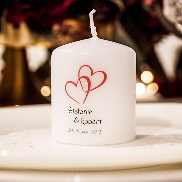 Gastgeschenk Kerze Herzen Weiss Weddix De