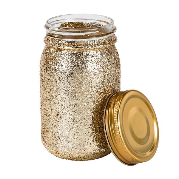 Deko Glas Glitter Glitzernde Hochzeitsdeko In Gold Weddix De
