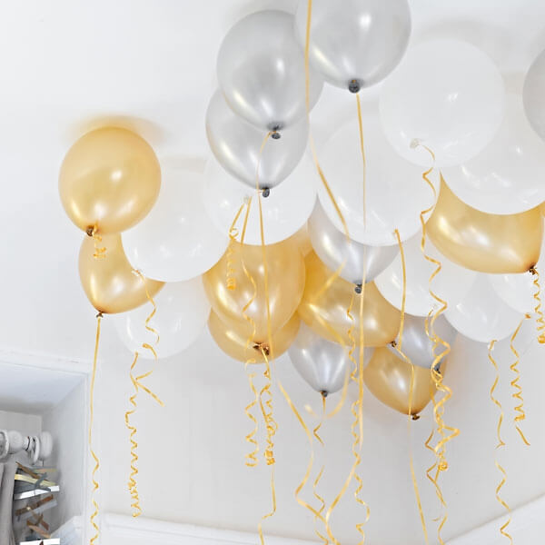 Deko ballons ceiling dekoration f r jede party for Hochzeitsdeko gold