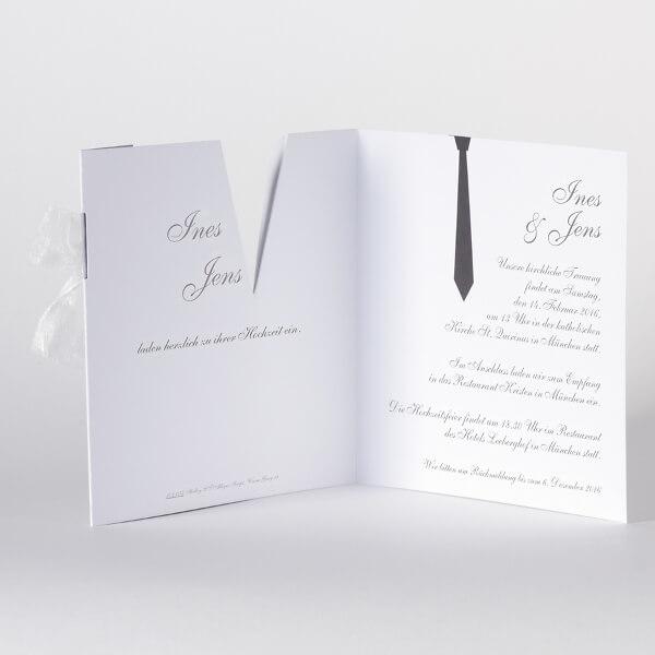Einladungskarte Alina   Schwarz Und Weiß