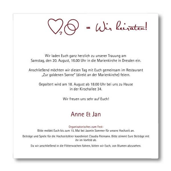Hochzeitseinladungen text polterabend – Die besten Hochzeitszeremonien