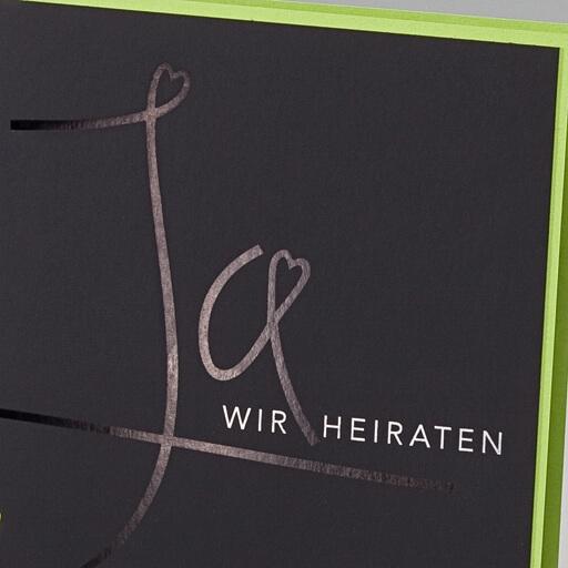 """hochzeitseinladung """"cori"""" in schwarz-grün - weddix.de, Einladung"""