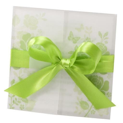 Hochzeitseinladung Eleni Mit Grunem Blumenmotiv Weddix De