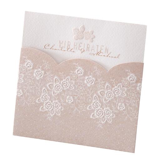Hochzeitseinladungskarte Lou Mit Naturlichem Rosenmotiv Weddix De