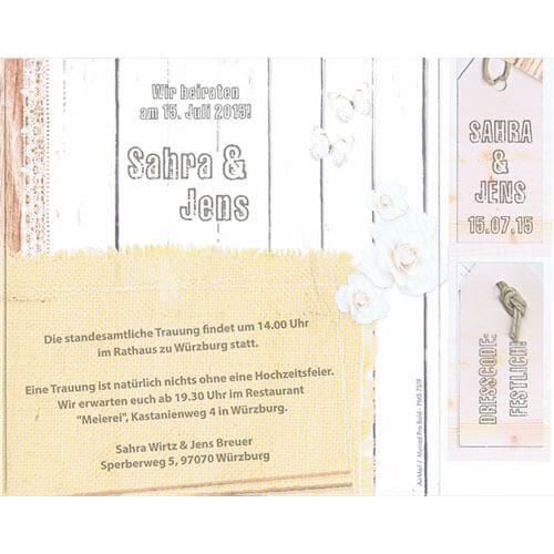 Einladungskarte Hochzeit Detailbild Molly; Einladungskarte Molly  Innenansicht; Detailansicht Einladungskarte Molly