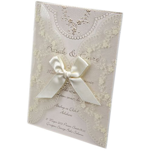 Hochzeitseinladung yalanda romantische hochzeitskarte - Hochzeitseinladungen mit spitze ...