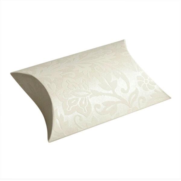 kartonage classic elfenbein mit bl tenpr gung f r. Black Bedroom Furniture Sets. Home Design Ideas