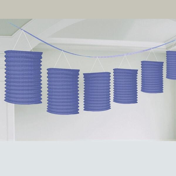 laternen girlande lila deko zur hochzeit. Black Bedroom Furniture Sets. Home Design Ideas