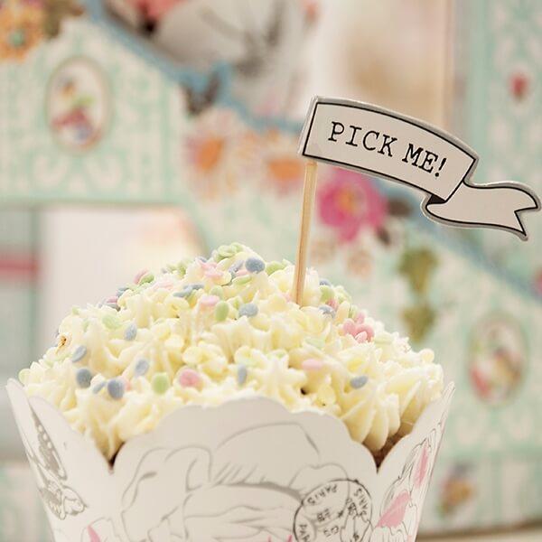 Cupcake Sticks Vintage Cupcake Deko Zur Hochzeit Weddix De
