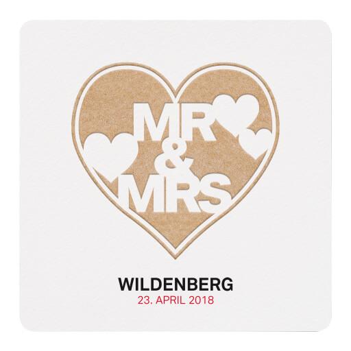 Hochzeitskarte Mit MRu0026MRS Aufschrift