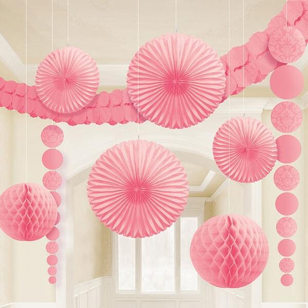 hochzeitsdeko set 9 tlg rosa. Black Bedroom Furniture Sets. Home Design Ideas