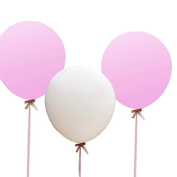 3 gro e wei rosa farbene luftballons f r die hochzeit. Black Bedroom Furniture Sets. Home Design Ideas