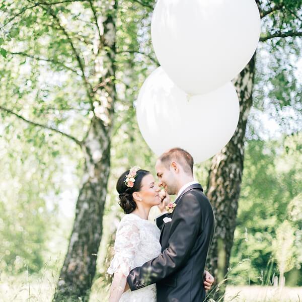 3 Grosse Weisse Luftballon Fur Die Hochzeit Weddix De