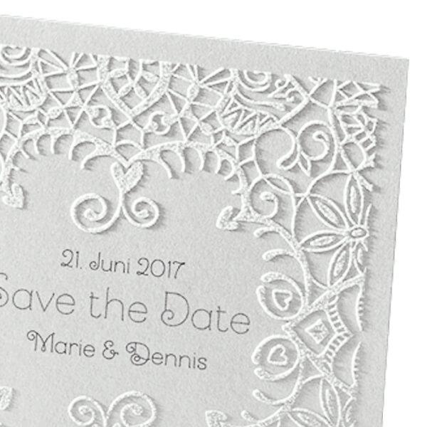 Save The Date Oder Dankeskarte Jana In Edlem Design Weddix De