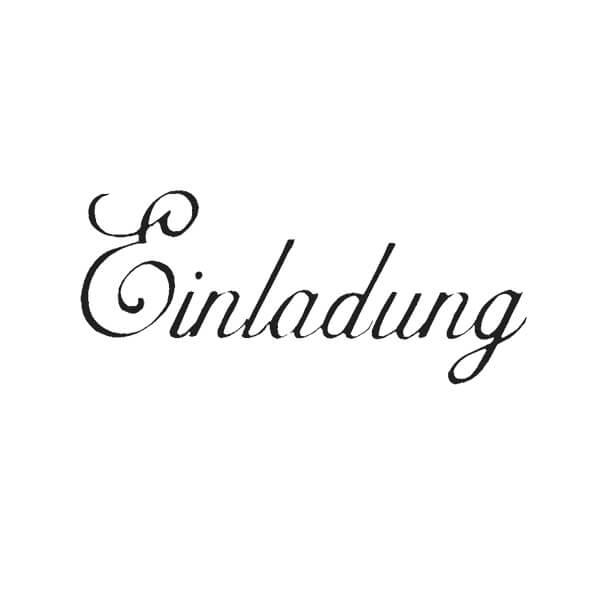 Stempel Mit Schriftzug Einladung Individuelle