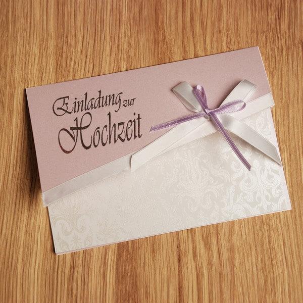 Einladungskarten Selbst Gestalten   Beispiel · DIY Karte Ornamente In  Creme, Rosa ...