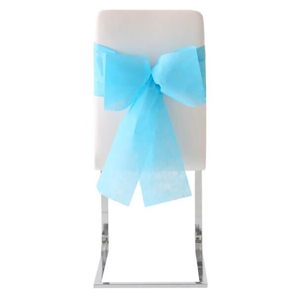 stuhlschleifen vlies t rkis 10 st ck h bsche stuhlschleifen in t rkis. Black Bedroom Furniture Sets. Home Design Ideas