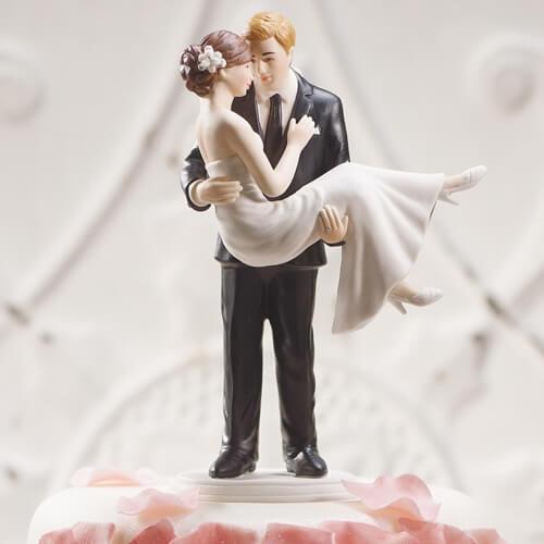 Hochzeitstortenfiguren romantisch