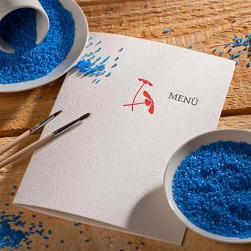 Letterpresskarte Hello my Dear mit Blumen