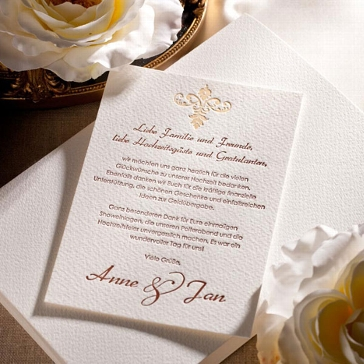 "Letterpress Save the Date Karte ""Chateau"""