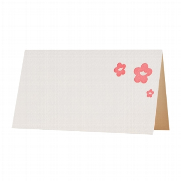 "Letterpress Tischkarte ""Blütenzauber"""