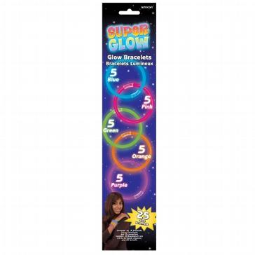 Lightstick-Armbänder, 25 St., sortiert