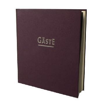 Gästebuch Hochzeit London - auberginenfarbenes Gästebuch