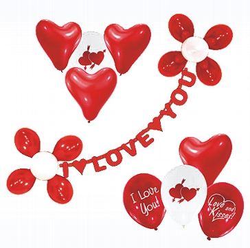 """Luftballon Deko-Set """"I love you"""" für die Hochzeit"""