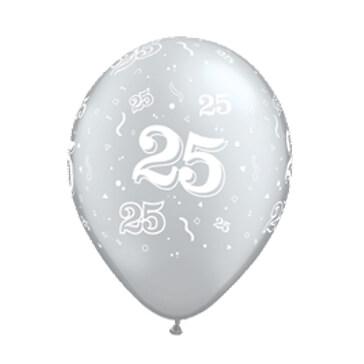Luftballons 25, silber, 25 St.