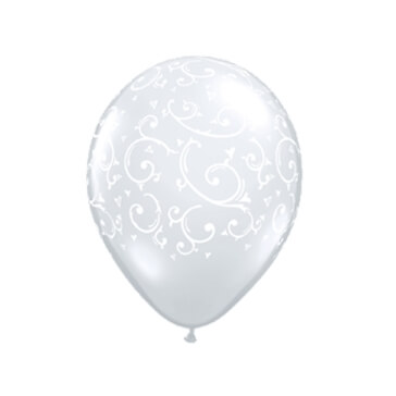 Luftballons Ornamente, transparent, 50 St.