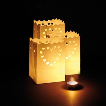luminaria windlicht liebe set