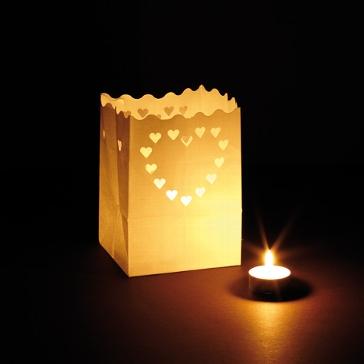 """Windlicht Luminaria """"Liebe"""" klein 2 St"""