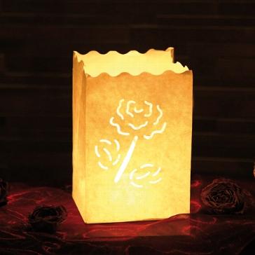 luminaria windlicht rose