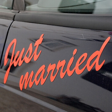 "Automagnet ""Just Married"""