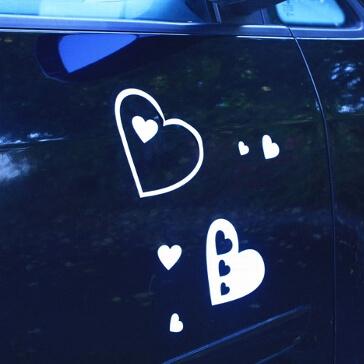 Magnete Herz in Herz, weiß