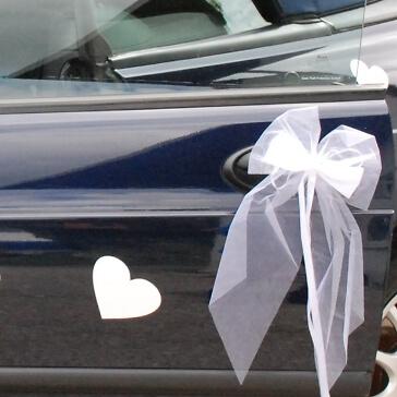Magnetherz in Weiß für die Autodeko