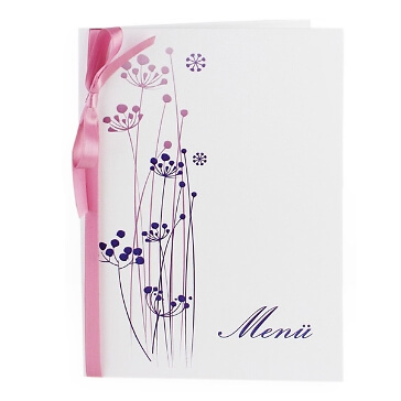 """Menükarte """"Purple Passion"""" - in Lila"""