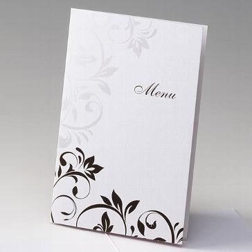 """Menükarte """"Lavina"""" für Ihre Hochzeitsfeier"""