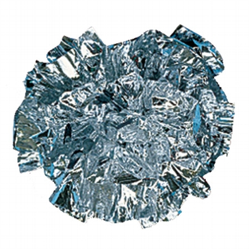 Metallic Pompoms, silber