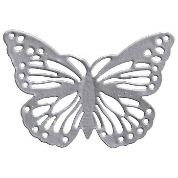 Metallschmetterling Filigran, silber, 6 St. - Hochzeitsdeko in Schmetterlingsform
