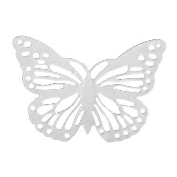 Metallschmetterling Filigran, weiß, 6 St. - Hochzeitsdekoration