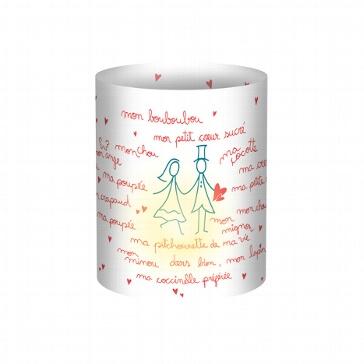 """Mini-Tischlichter """"Comic"""", 5 St. - Tischlicht mit Brautpaar"""