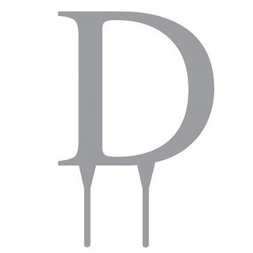 Tortenfigur Monogramm D