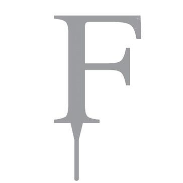 """Tortenfigur Monogramm """"F"""""""