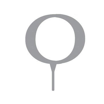 """Tortenfigur Monogramm """"O"""""""